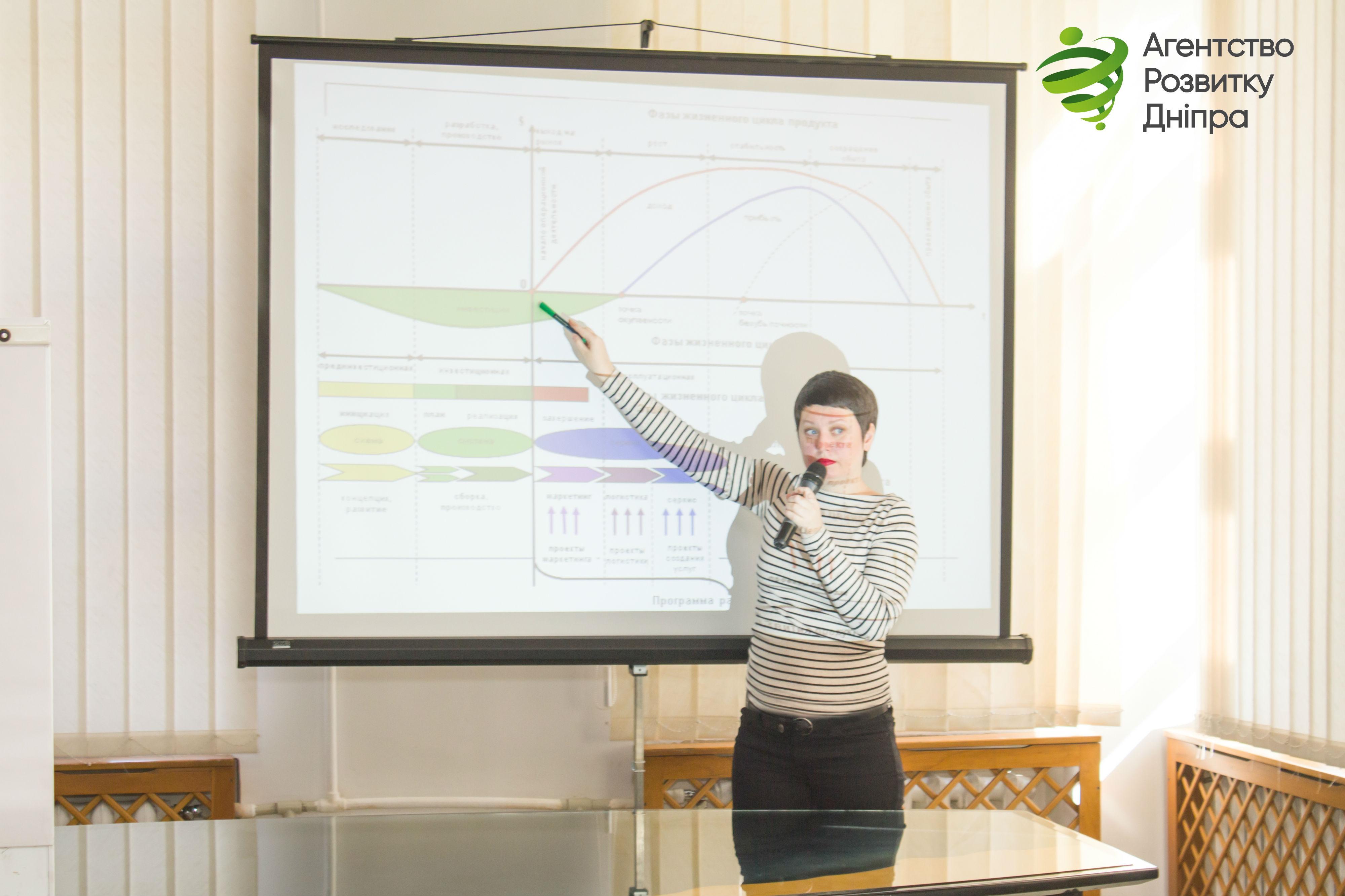 В «Агентстві розвитку Дніпра» відбувся черговий безкоштовний тренінг з управління проектами