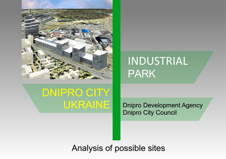 INDUSTRIAL PARK ІN DNIPRO CITY: analysis of possible sites