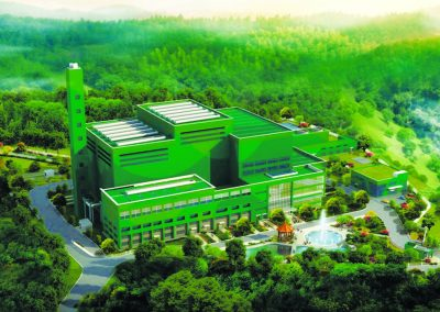 Waste-to-energy processing complex